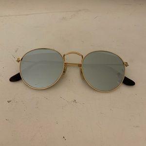 Ray Ban Reflective Round Sunglasses
